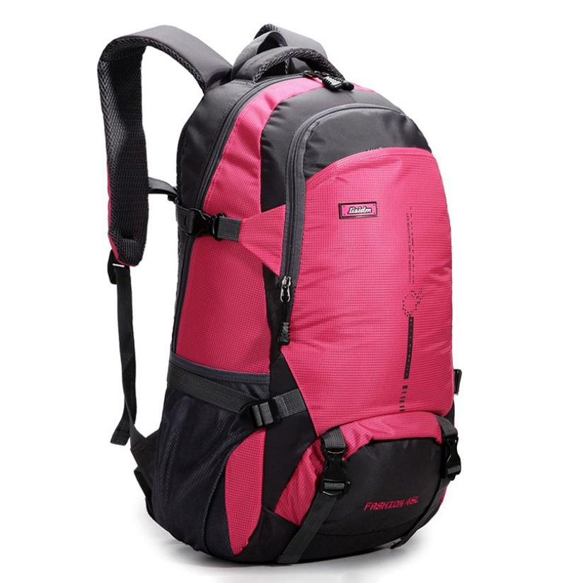 8a6220c8f2b4 New 45L Hiking Camping Backpack Travelling Backpack Men Women Comfortable  Waterproof Sports Bag School Boys Backpacks Hydration Backpack From  Getoffit