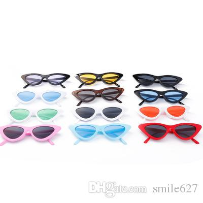 f19756c880d Cute Sexy Retro Cat Eye Sunglasses Women Small Black White 2018 Triangle  Vintage Cheap Sun Glasses Red Female Circle Sunglasses Glass Frames From  Smile627