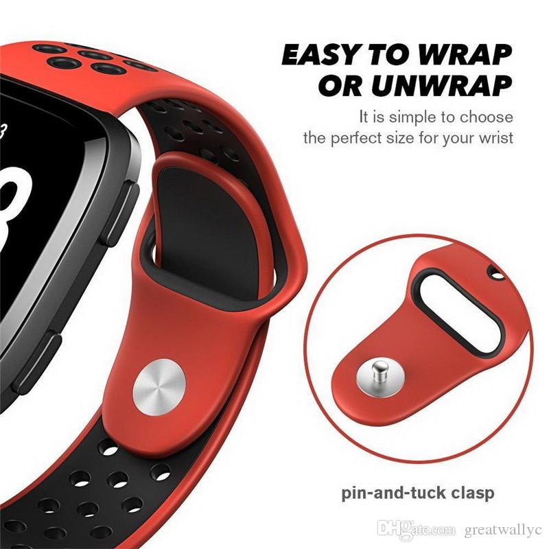 NK Hole Loops Strap Replacement Silicone Wrist Bracelet Sport Band Strap For Fitbit Versa Smart Watch Band