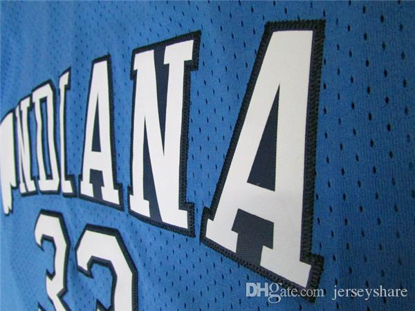 Top Quality Men's INDIANA State #33 Larry Bird Jersey NCAA College Stitched Shirt 1992 Dream Team USA #7 Larry Bird Basketball Jerseys Movie