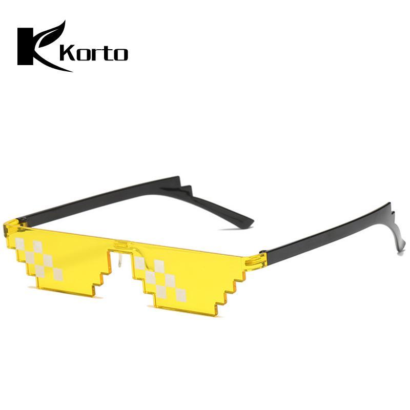 0882f7e4a02 Cool Pieces Glasses 8 Bit MLG Pixelated Sunglasses Men Women Brand THUG LIFE  2018 Party Eyeglasses Mosaic Vintage Meme GLASSES Sunglases Cheap Designer  ...