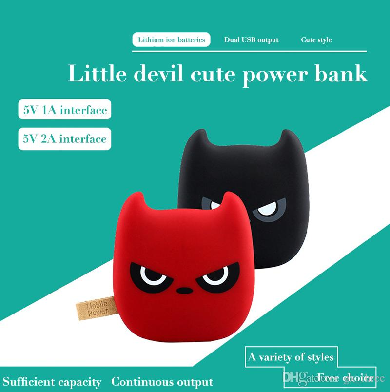 Portable Ultra thin cartoon Little Devil 7800mah power bank Meow star cool cat for iphone 6 6plus xiaomi samsung salaxy note Tablet PC