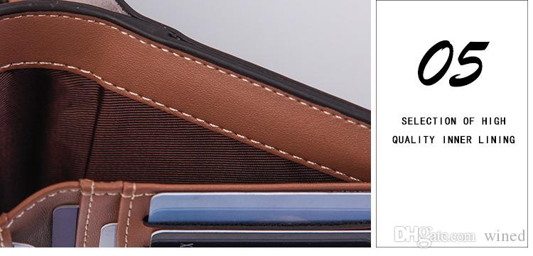 Hot Sale New Casual Business Brands Vintage Men's Leather Wallets High Quality With Coin Bag Design Credit Card Holders Men's Wallets