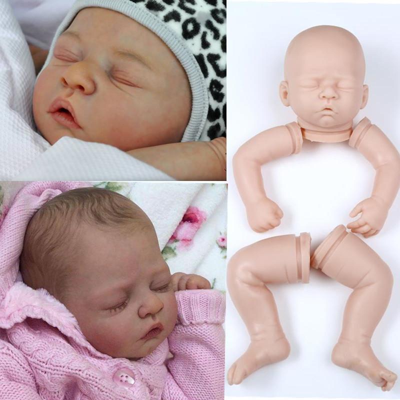 f2724575a Compre Silicone Reborn Baby Doll Kits Corpo Macio Lilfelike Bonecas De  Vinil DIY Accosseries Para 20 Polegadas Atacado Em Branco Inacabado Arte  Obras De ...
