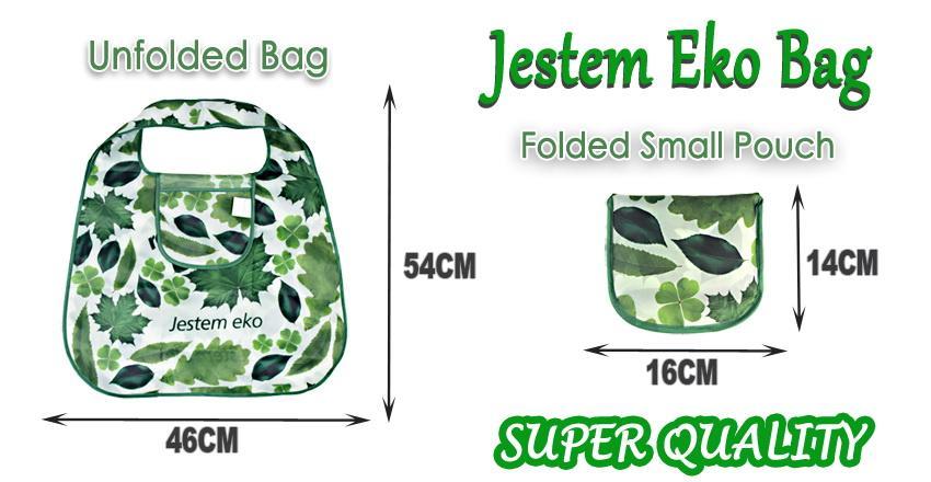 ¡Buena calidad! Bolso de compras de la hoja verde de Alemania, bolso de moda plegable plegable respetuoso del medio ambiente del hombro de la manija para el supermercado del viaje