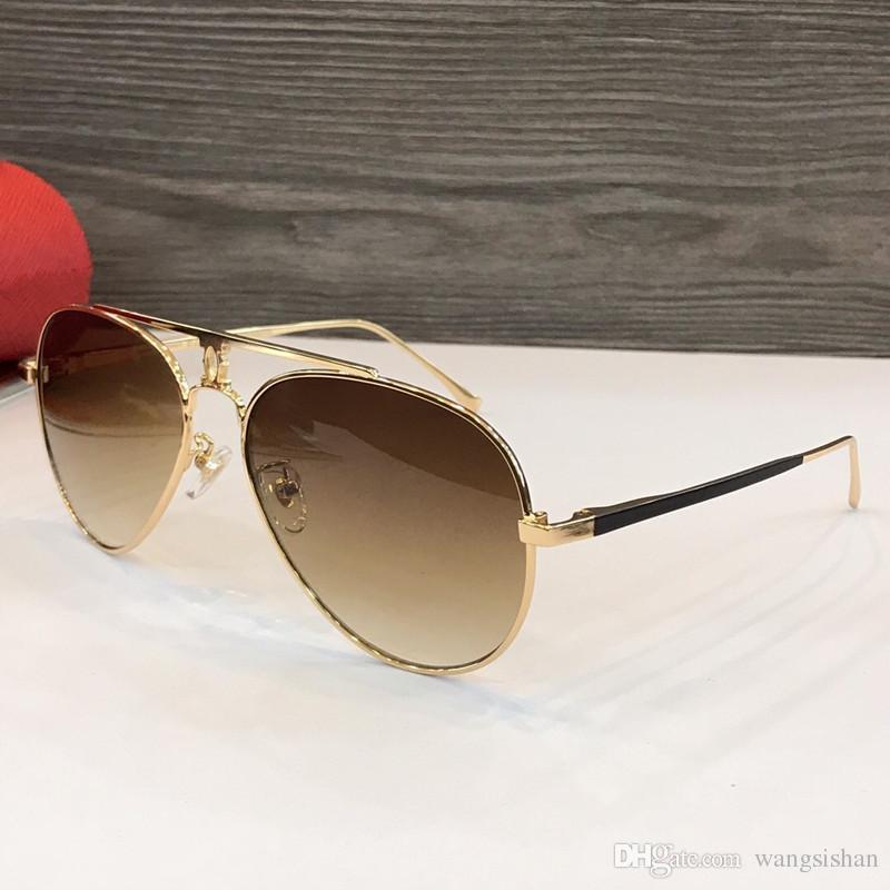 8c9fc25d0e Compre Nuevo Diseñador De Moda Gafas De Sol Con Montura Metálica Gafas Para  Hombres Pilotos Estilo De Venta Clásico Uv400 Lentes De Protección De  Calidad ...
