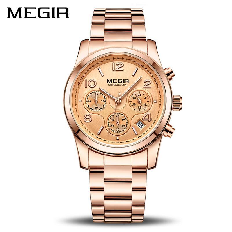 0272eef056f Compre Megir Mulheres Relógios De Quartzo De Luxo Relogio Feminino Moda  Esporte Senhoras Amantes Relógio Marca Top Marca Cronógrafo Relógio De Pulso  ...