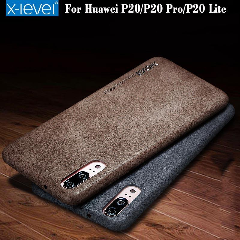 cheap for discount 56d21 78f05 Huawei P20 Pro Leather Case X-Level New Leather Phone Ultra thin Protective  Back Cover For Huawei P10 P20 Pro P20 Lite