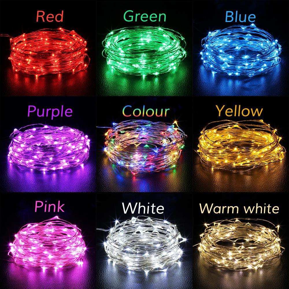 3M kupfernes LED Schnurlicht Batteriebetriebenes feenhaftes Schnurlicht für Partei-Hochzeits-Weihnachtsdekorationslicht
