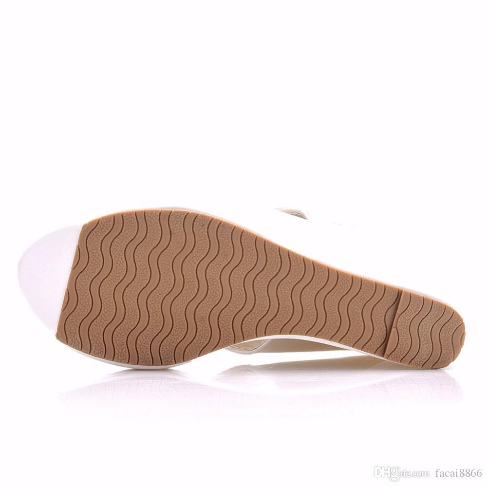 Summer Women's Flip-Flop Sandals Platform Flip Flops Slippers Sandals Swing Wedges Women Shoes Plus Size