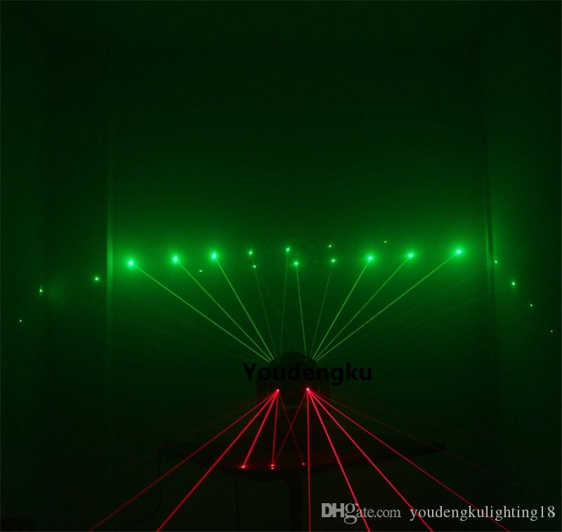 2 unidades Lnno Pocket 16x3w rgbw Haz + Luz láser verde roja + 4x15w Luz estroboscópica LED Disco 3in1 Luces de cabeza móvil