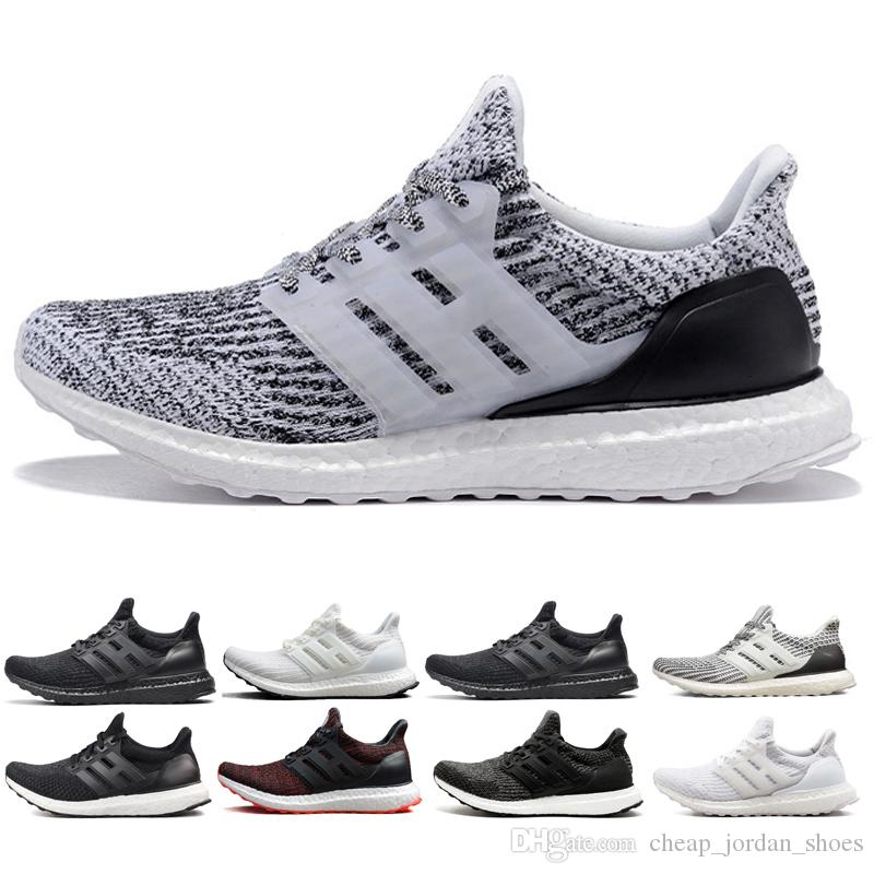 01169e7505477 2018 Ub 3.0 4.0 Triple Black White Oreo Cny Multicolor Men Women Running  Shoes Ultra Mens Trainers Sports Shoes Sneaker Running Clothes Sports Shoes  For Men ...