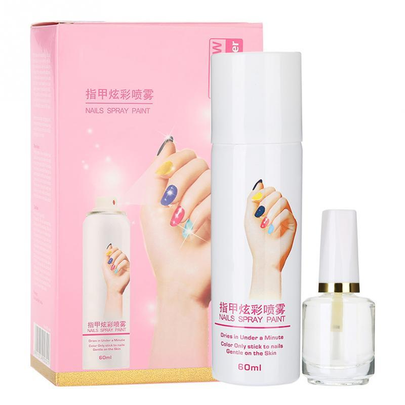 Manicure Nail Polish Spray Base Coat Fast Drying Spraying Easy