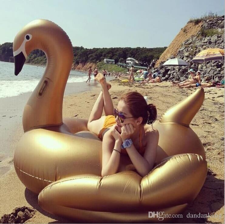 New Inflatable Flamingo Inflatable Floats swimming pool toys For Kids And Adult Swan Inflatable Floats Swimming Ring swimming Raft 1.9M