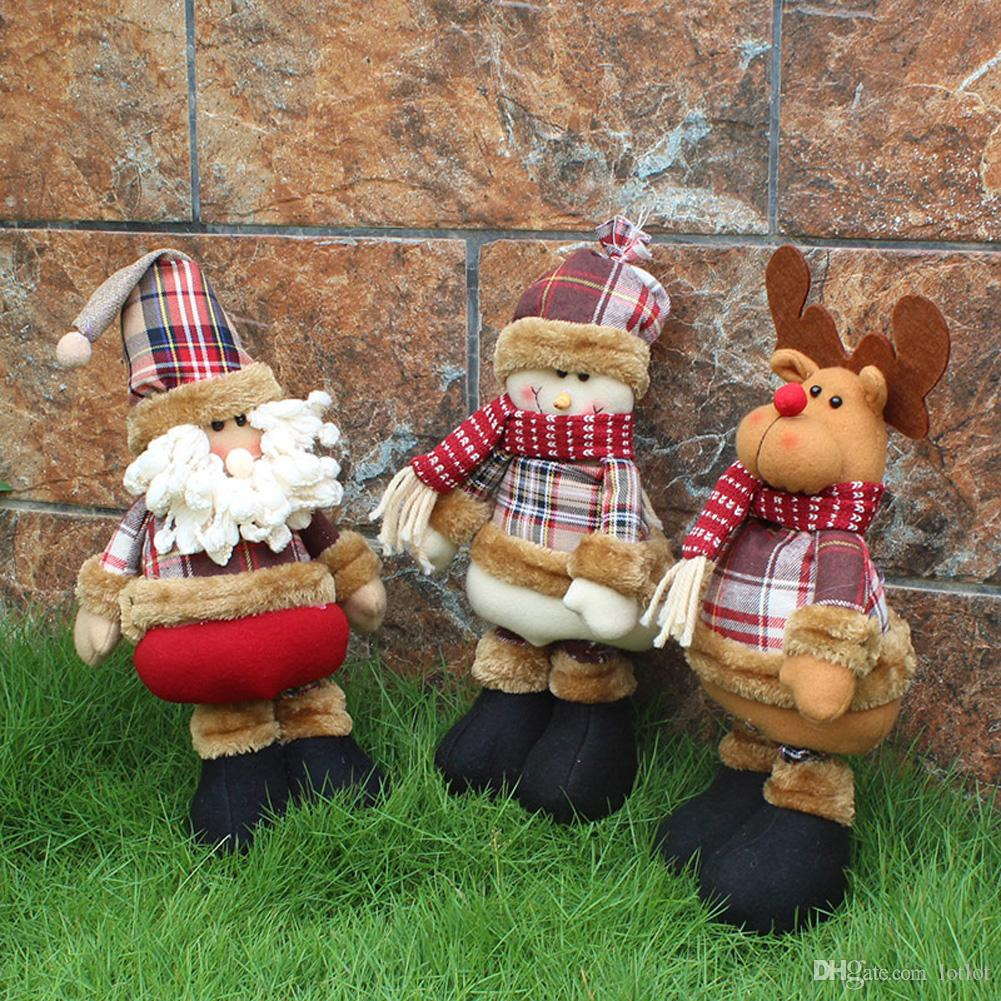 Weihnachtsgeschenk Weihnachtsmann Schneemann Rentier Puppe navidad Weihnachtsschmuck für Home Weihnachtsbaum Hängende Ornamente Anhänger Geschenk