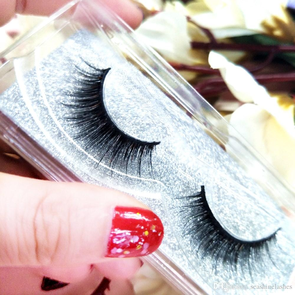 Seashine100% Top quality 3D Mink Lashes Extension handmade for Strip fans Glitter Packaging Customized box Mink Lash