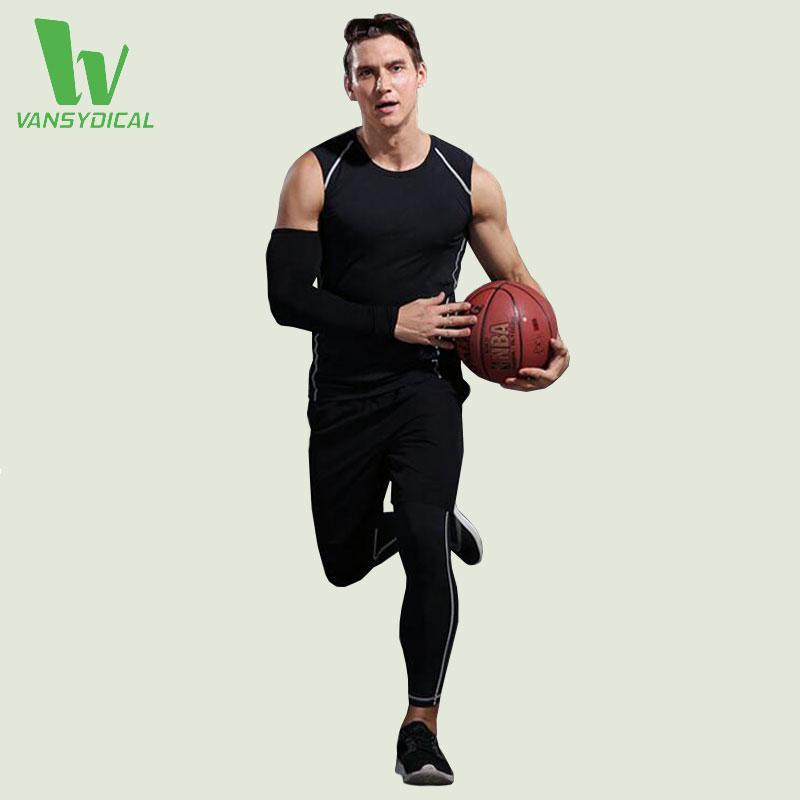 d53f8a754115f Compre VANSYDICAL 3 Piezas Juegos De Correr Transpirables Ropa Deportiva De  Los Hombres Medias De Compresión Para Hacer Ejercicio Correr Baloncesto  Gimnasio ...