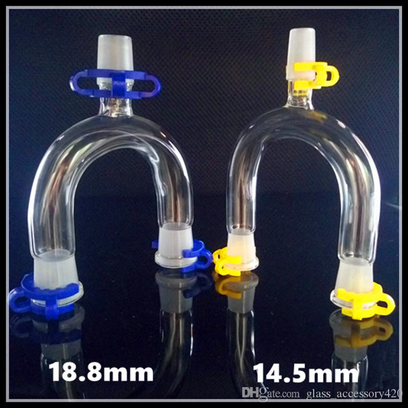 Double bowl Glass adapter adaptor water smoking bong bubbler pipe free shipping wholesale two functions smoke