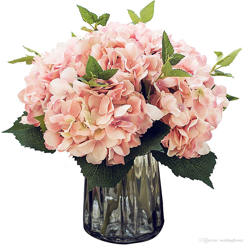 Satın Al Yapay Ipek çiçekler Kaliforniya Sahte Güzel Ortanca Bunch