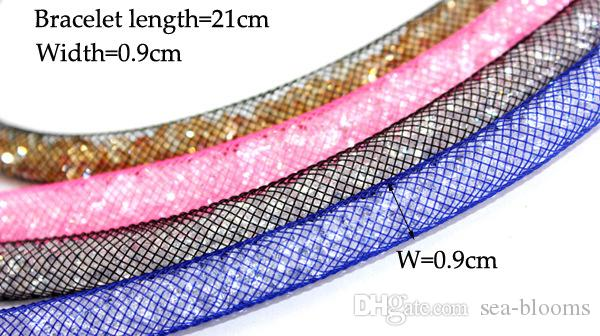 24 Style Multicolor Crystal Bracelet Mesh Network Magnetic Buckle Bracelet Clasp for Ladies Girls Bracelets Girl Bangle Jewelry Gifts G378S