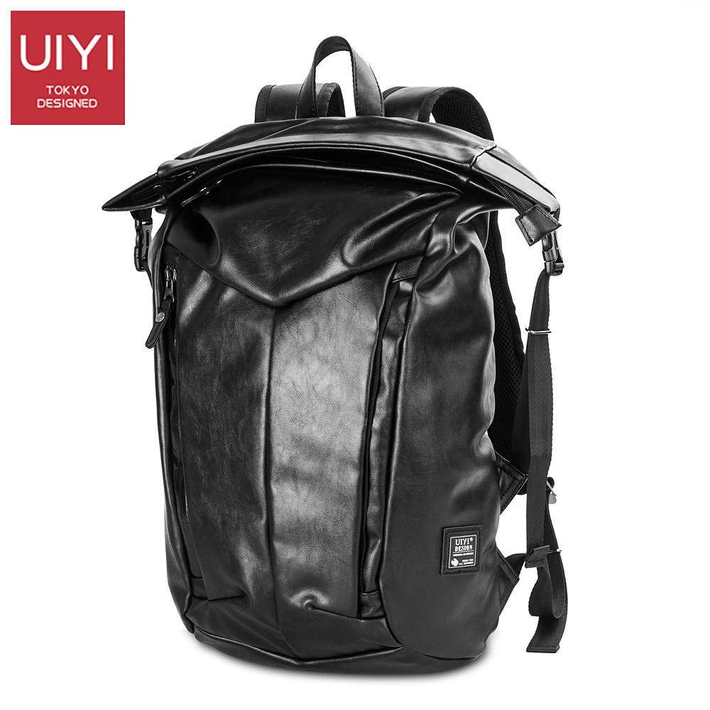 f1b3174dfb25 UIYI PU Leather Men Backpack Black Waterproof Zipper Backpack For Male  Shoulder Back Bag Men S Using Laptop Bag  UYB7024 Toddler Backpacks Mens  Backpacks ...
