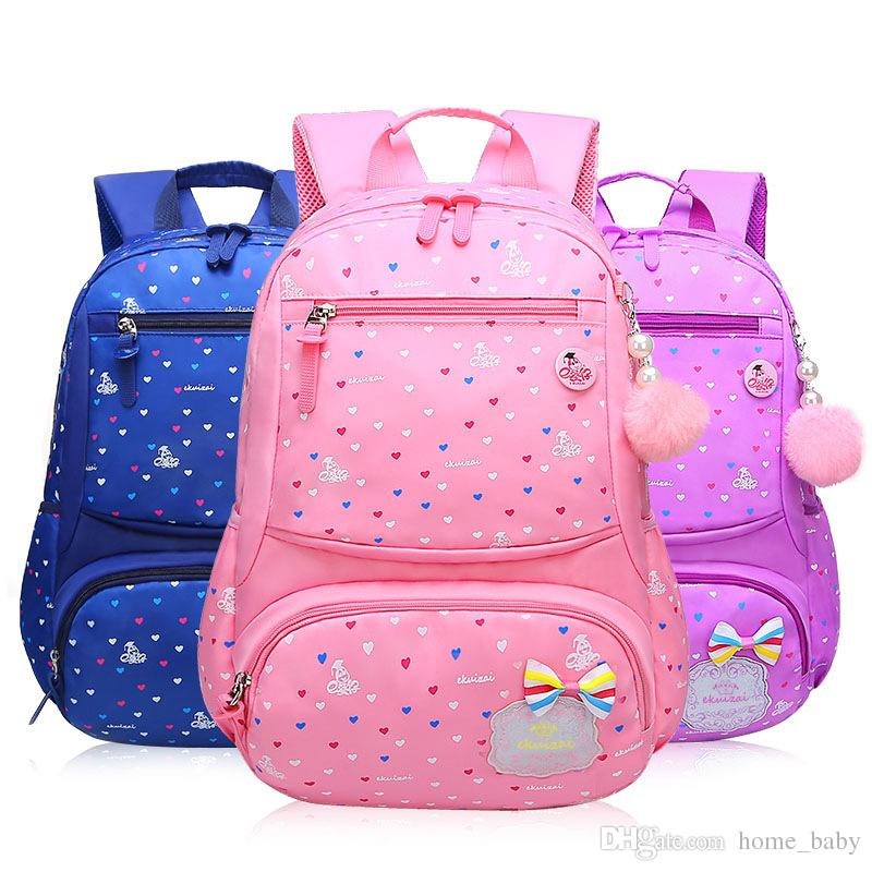 57675f973f40 New Kids Girls Princess Schoolbag Fannypack Children Book Bags ...