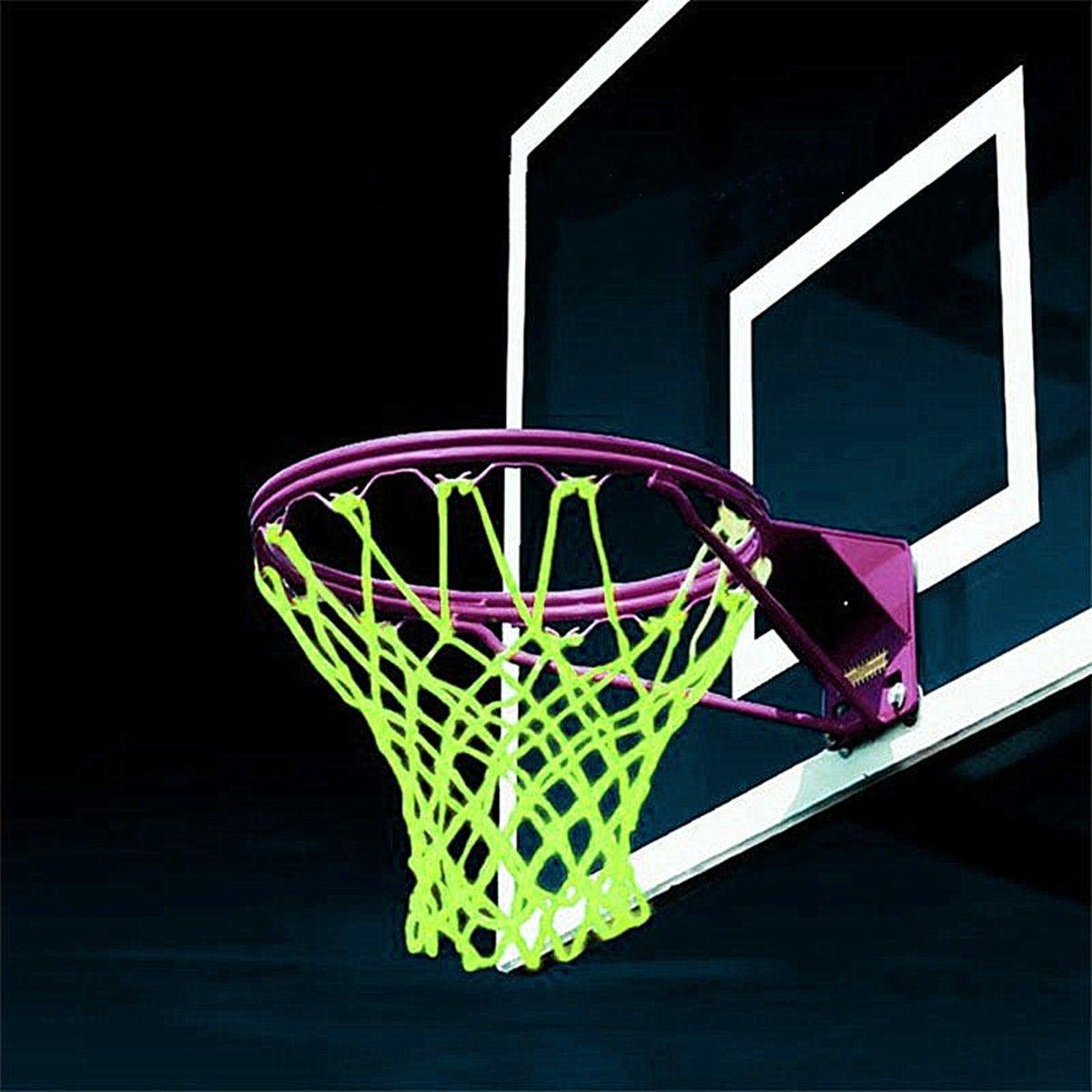 9ed48354 2019 New Glowing Light Shooting Training Fluorescent Green Basketball Net  Backboard Rim Ball Mesh Nylon Standard Basketball Hoop Net From Walon123,  ...