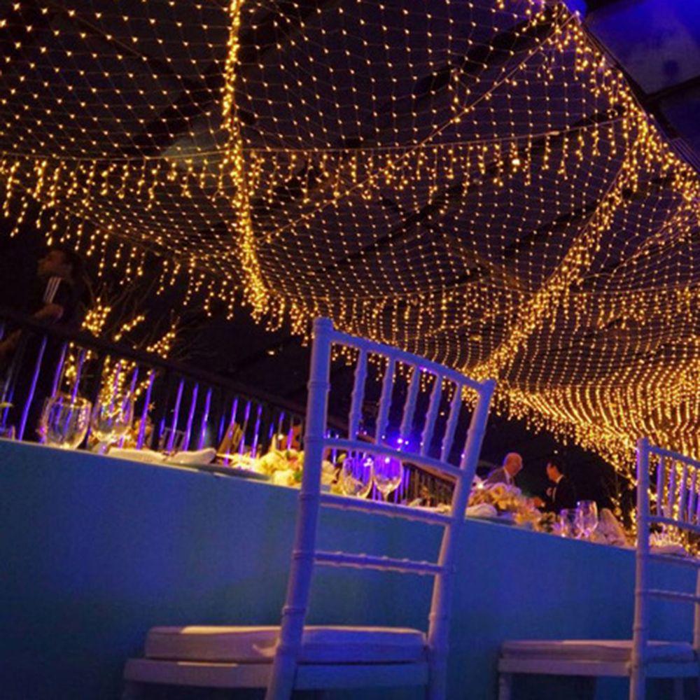 256aa72055d Compre Luces De Hadas De Malla De Navidad LED Neto Luces De Hadas Fiesta De  Navidad De Boda Lámpara De Decoración Al Aire Libre Para El Arreglo  Romántico ...