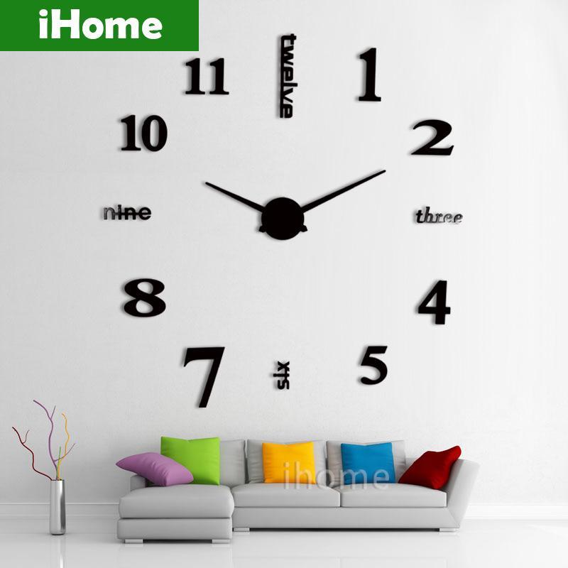 Wholesale 3d Large Sticker Decorative Wall Clocks Living Room Mirror