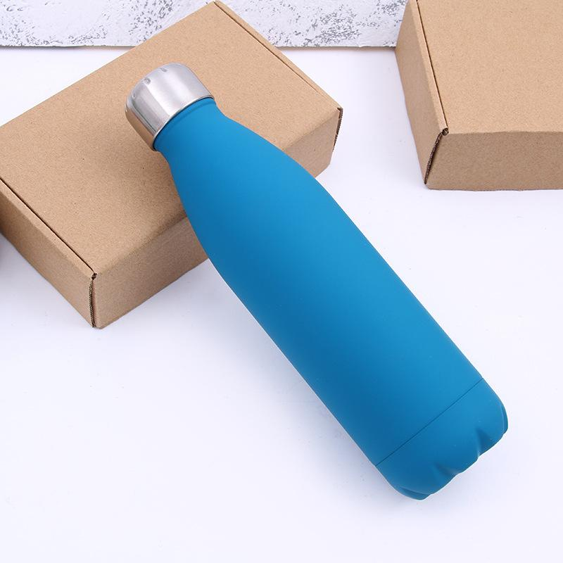 500ML Water Cup Insulation Mug Vacuum Bottle Sports 304 Stainless Steel Cola Bowling Shape Travel Mugs Have stock WX9-426