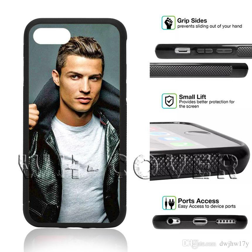quality design bdcc8 fc07a Cristiano Ronaldo CR7 CV Phone Case For iPhone iX XR MAX i8 i8Plus i7 i7 i6  i6s SE T6 Cover