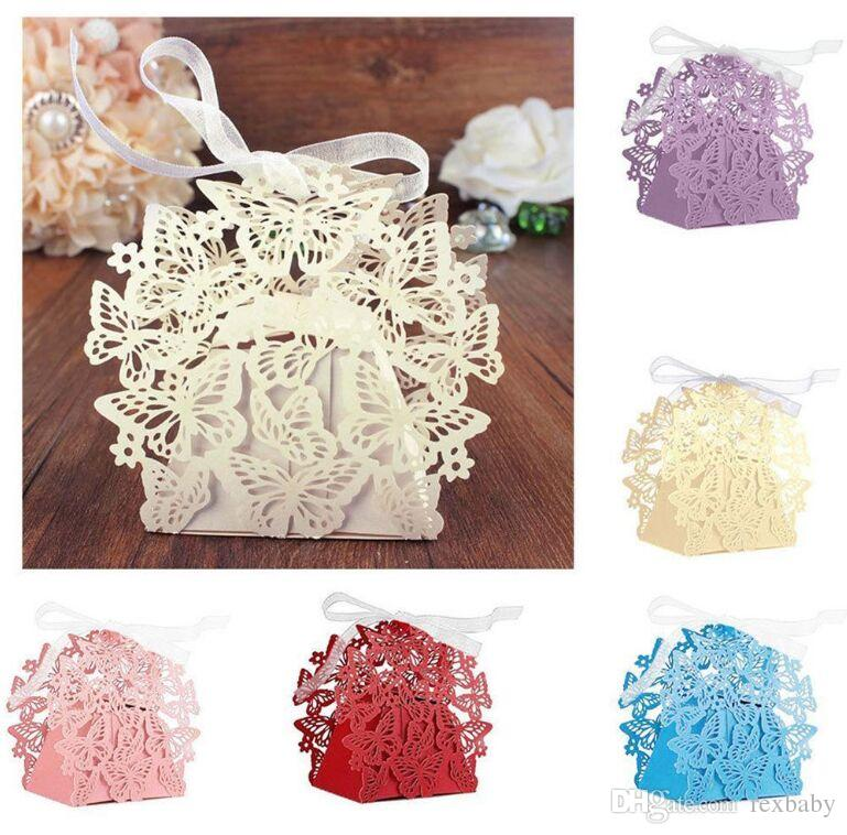 Romantic Wedding Favors Decor Butterfly Diy Candy Cookie Gift Boxes