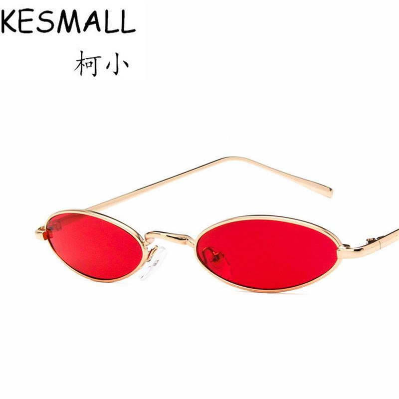 a9fe9128de KESMALL Vintage Small Oval Sunglasses Fashion Women Men Metal Frame Clear  Lens Shades Sun Glasses Retro Eyewear UV400 YJ1085 Fastrack Sunglasses  Smith ...