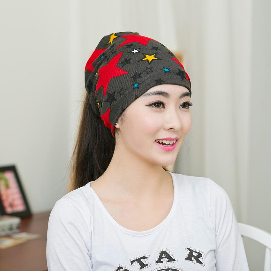 2ea5ef44857 New Hot Women Korean Fashion Spring Autumn Lady Hat Women Cool Bonnet  Turban Trendy Casual Solid Unisex Star Skullies Beanies Cool Beanies Beanie  Caps From ...