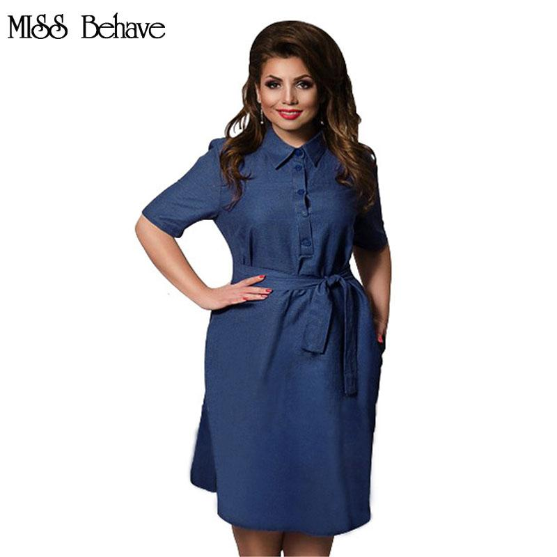 2019 Women Plus Size 6XL Dress 2017 New Designer Straigth Casual Vestidos  Sashes Casual Female Denim Dress Women s Clothing Oversized From Honey111 1b2fb9139