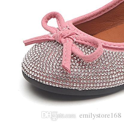 fbef715d88806 Acheter 2018 Automne Nouvelles Chaussures De Princesse À L arc Pour Enfants  Filles Coréennes Fond Plat Chaussures Molles Chaussures Peu Profondes  Bouche De ...