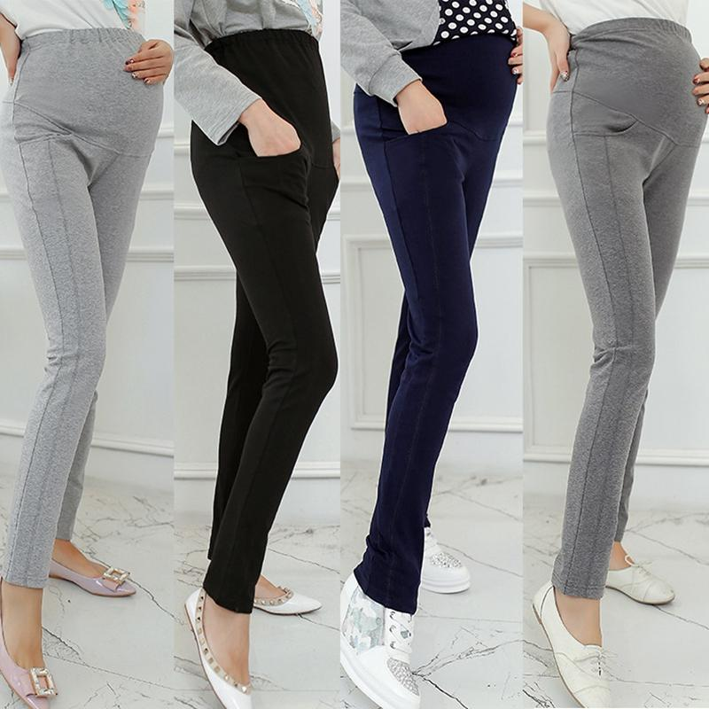ac23e220918e57 2018 Casual Maternity Pants Cotton Pregnant Women Maternity Clothes  Pregnancy Pants Elastic With Pocket M 4XL From Sightly, $51.1 | DHgate.Com