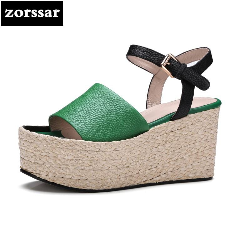 57f2d18b1  Zorssar  2018 Fashion Hemp Rope Casual Women Wedges Sandals Summer Shoes  Women Open Toe High Heels Sandals Female Dress Shoes Sparx Sandals Blue  Shoes From ...
