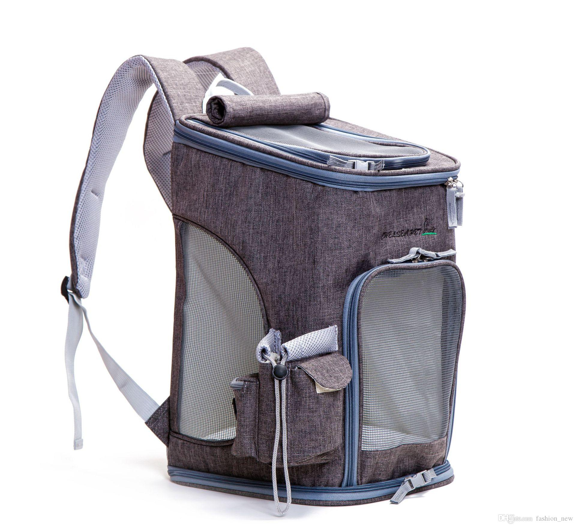 2173c0f101 2019 Portable Pet Travel Carrier Dog Linen Backpack Chest Bags Dog Pack Bag  Double Shoulder Foldable Front Style Pet Supplies From Fashion_new, ...
