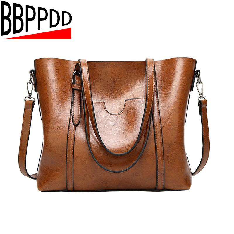 9190b64e497a BBPPDD 2018 Women Leather Handbags Lady Large Tote Bag Female Pu Shoulder  Bags Bolsas Femininas Sac A Main Brown Black Red Leather Briefcase  Wholesale ...