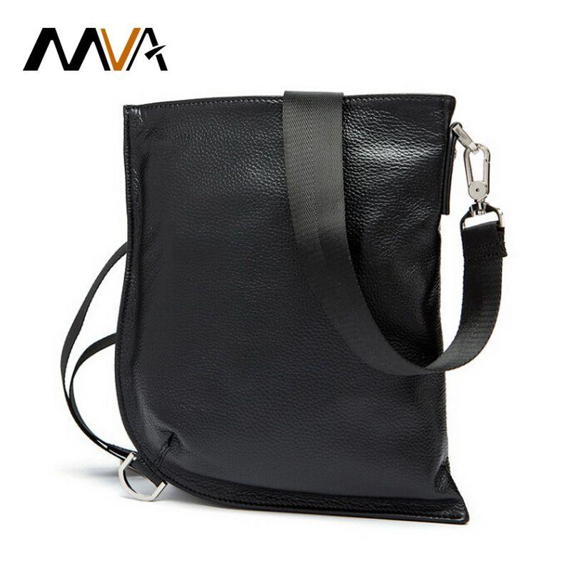 95d9267c18f0 Mva Genuine Leather Men Bag Messenger Bag Men Leather Shoulder Bags Ipad  Pouch Flap Male Chest Pack Crossbody Bags Black 9038 Wholesale Handbags  Cheap …