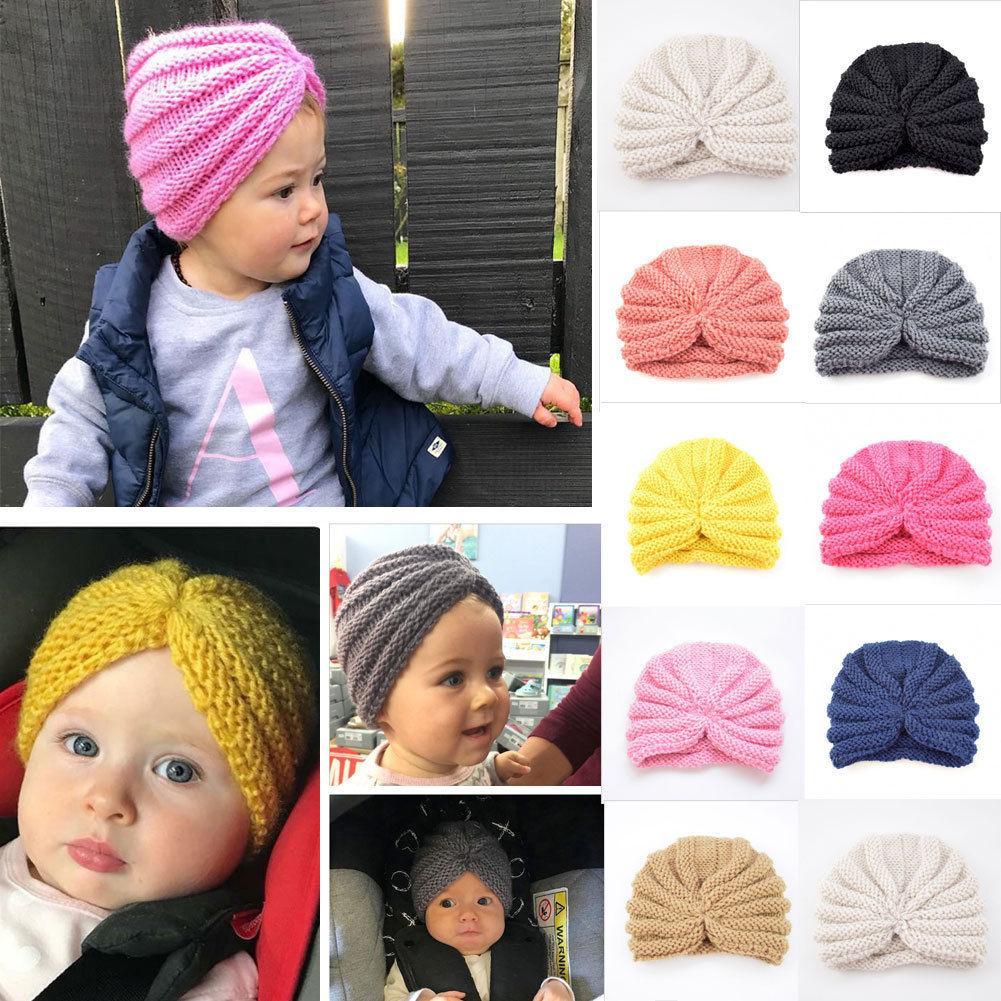 c81489485 Fashion Newborn Toddler Kids Baby Boy Girl Turban Cotton Beanie Hat Winter  Cap For Children