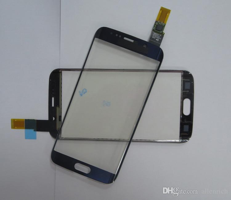 100% Tested Good Front Glass with Touch Screen Flex Cable for S6 edge G925 / S6 edge plus/S7 edge G935 White/Black