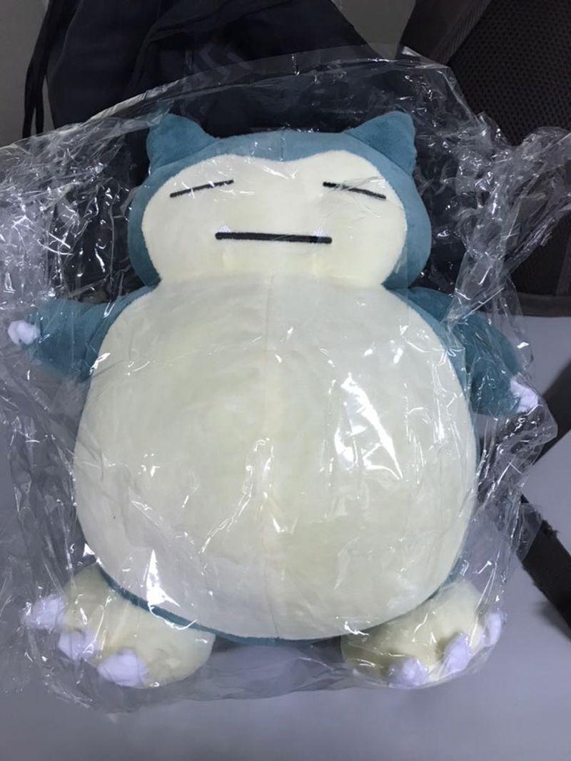 Japanische neue Ankunfts-Anime Snorlax Plüschtiere Kabigon Plüsch weiche Kuschelpuppen 30cm Abbildung Geschenk LA031