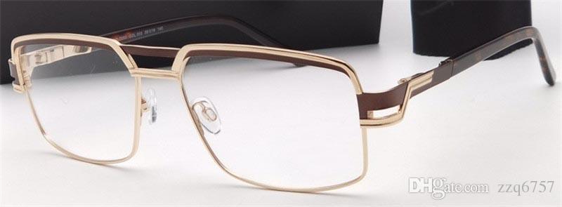 1cae4efe5d25 New Fashion Men Optical Titanium Glasses CZ 7053 Metal Small Square ...