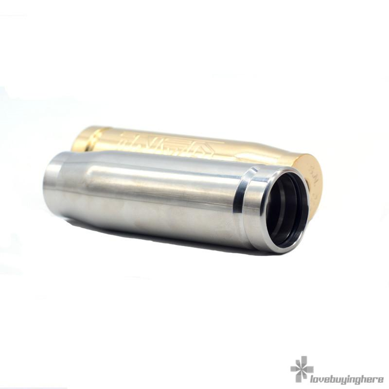 Gani Mech Mod di Vapers Mood Clone Gani Bullet E-sigaretta Mods SS / Ottone / Rame 18650 Mod meccanica