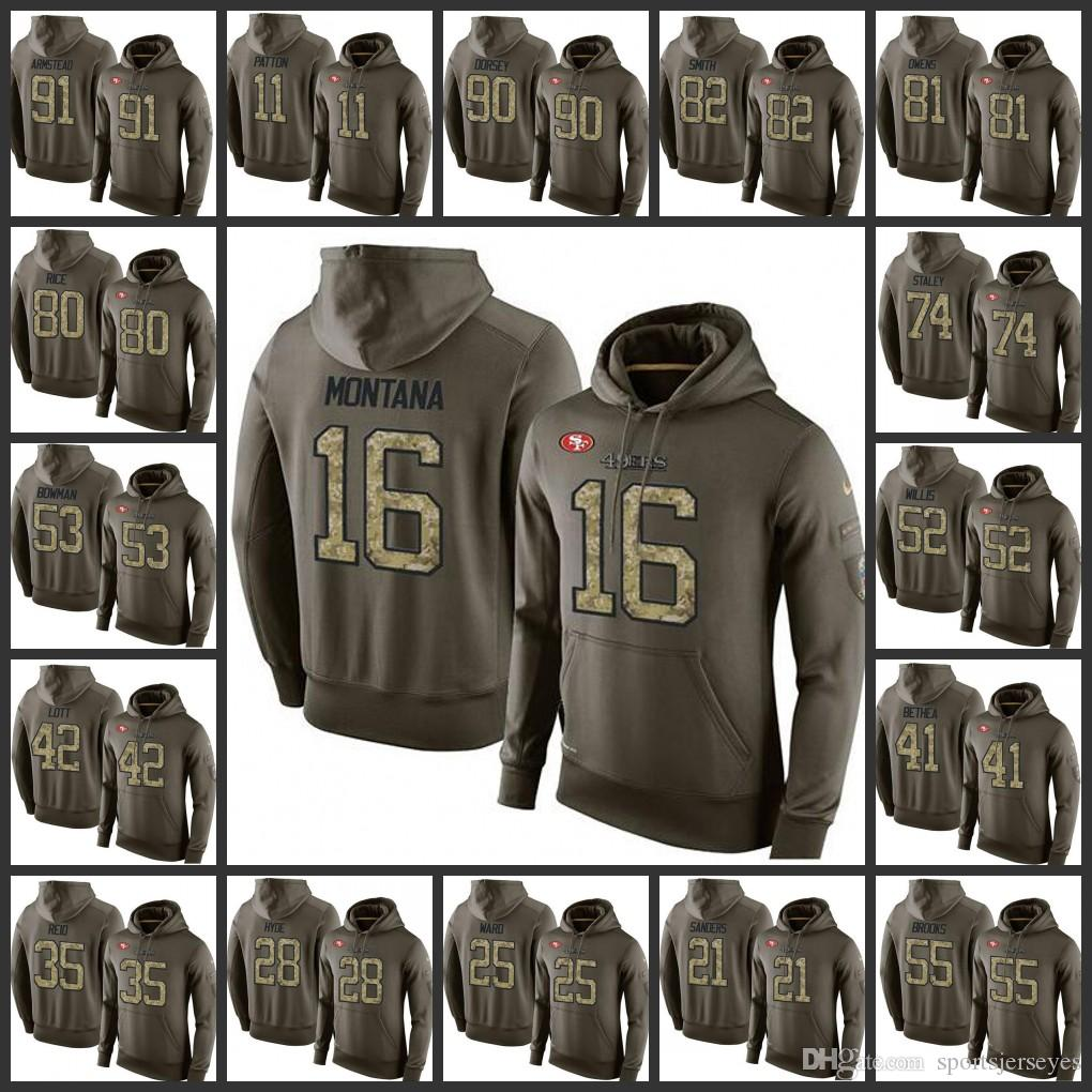 f6c3245f6ca Hot San Francisco Embroidery 49ers Men  16 Joe Montana 53 NaVorro ...
