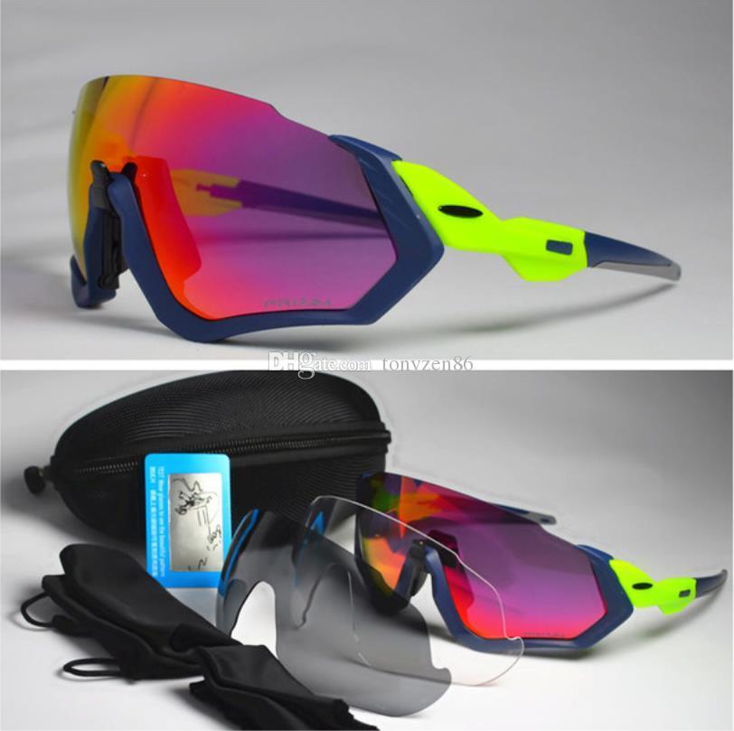 1c39d23de60 New Cycling Glasses 3 Lens UV400 Bicycle Cycling Sunglasses Men Women Sport  Road Bike Cycling Eyewear Gafas Ciclismo Flight Jacket Glasses Round  Sunglasses ...