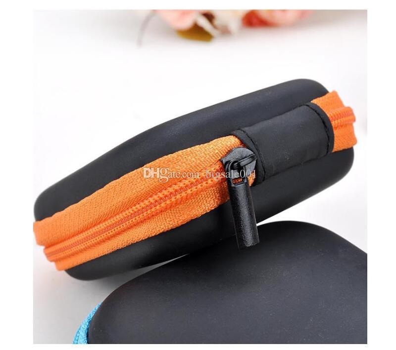 EVA Earphone Wire Cables Storage Box Zipper Protective Data Line battery Storage Container Organizer Case SD Card Box