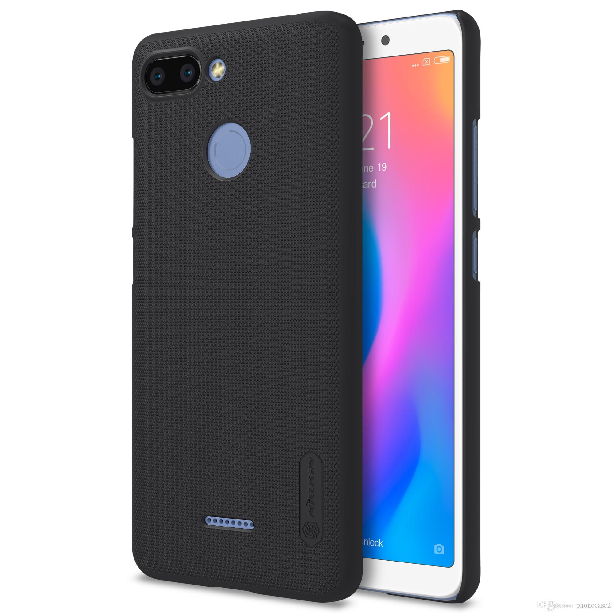 size 40 f986b 1c3a9 Xiaomi Redmi 6 Case 5.45 inch Nillkin Frosted Shield PC Back Cover Case For  Xiaomi Redmi 6 Gift Screen Protector